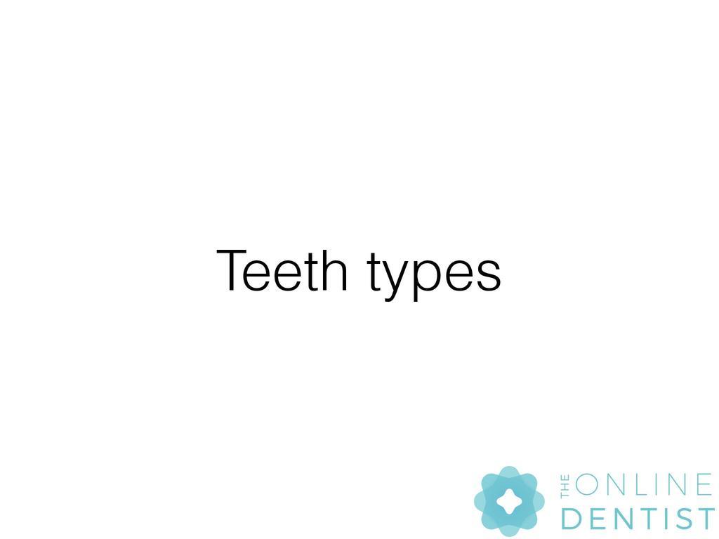 Tooth Types Ks2